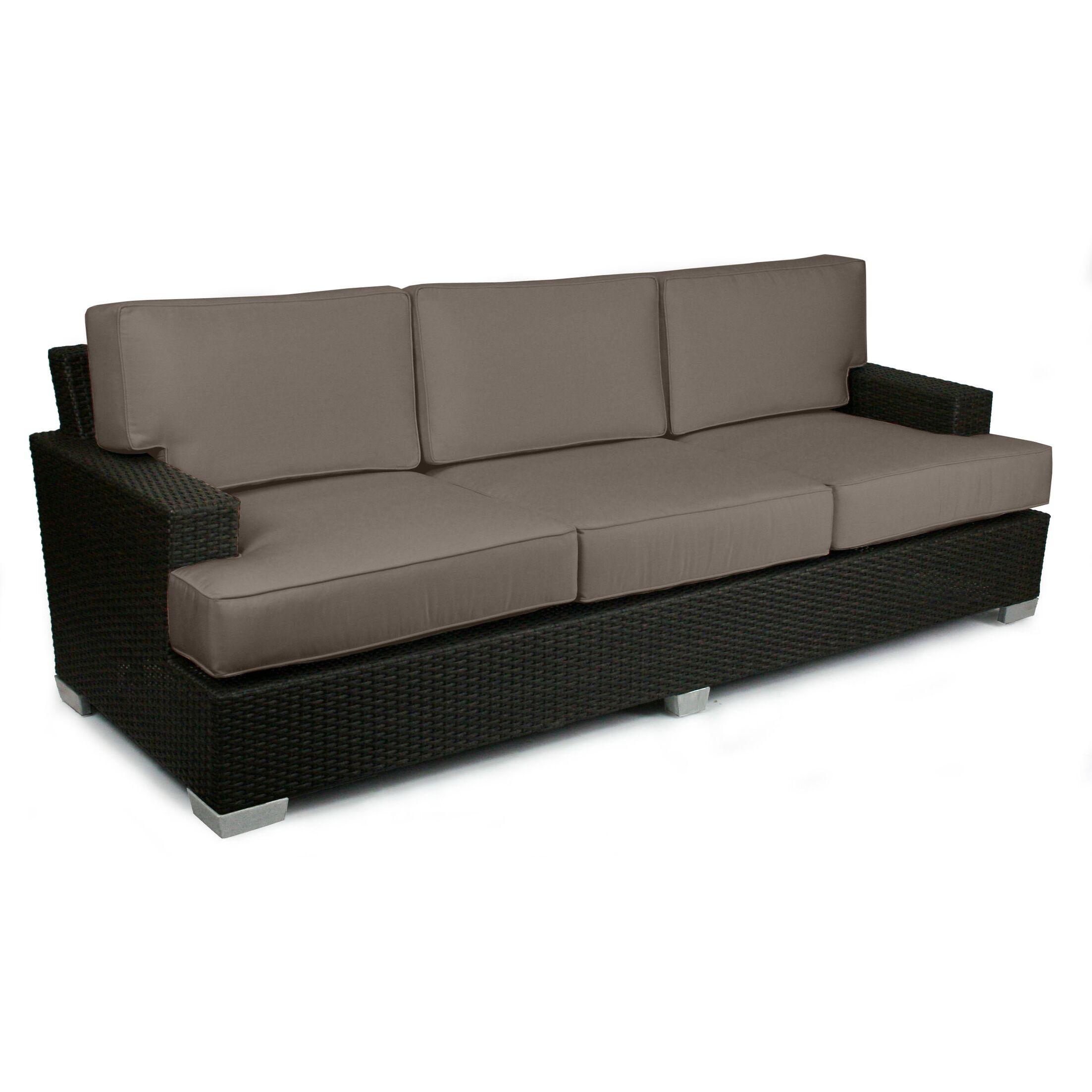 Signature Sofa with Cushions Fabric: Coffee
