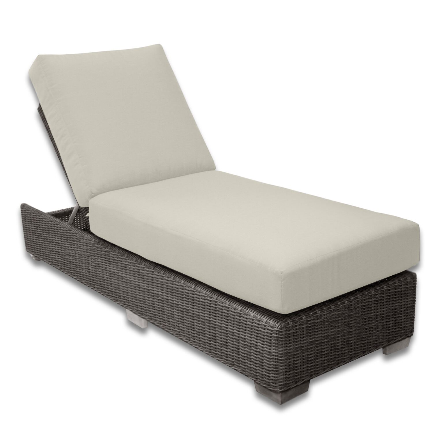 Palisades Chaise Lounge Fabric Color: Eggshell