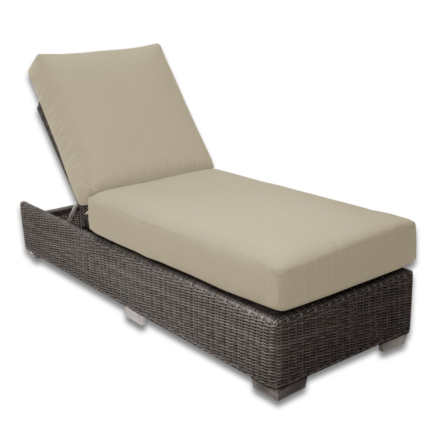 Palisades Chaise Lounge Fabric Color: Sand