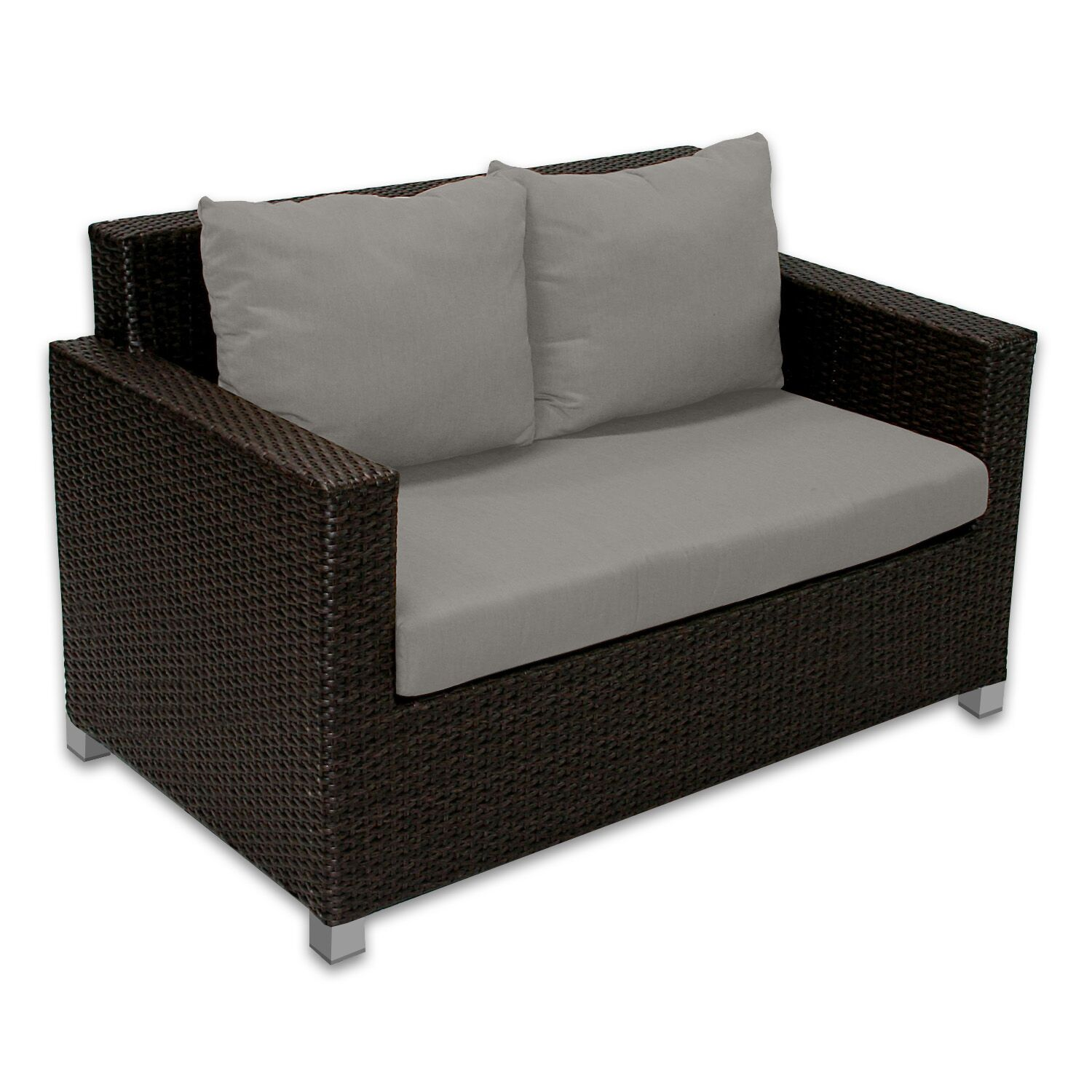 Skye Venice Loveseat with Cushions Fabric: Graphite