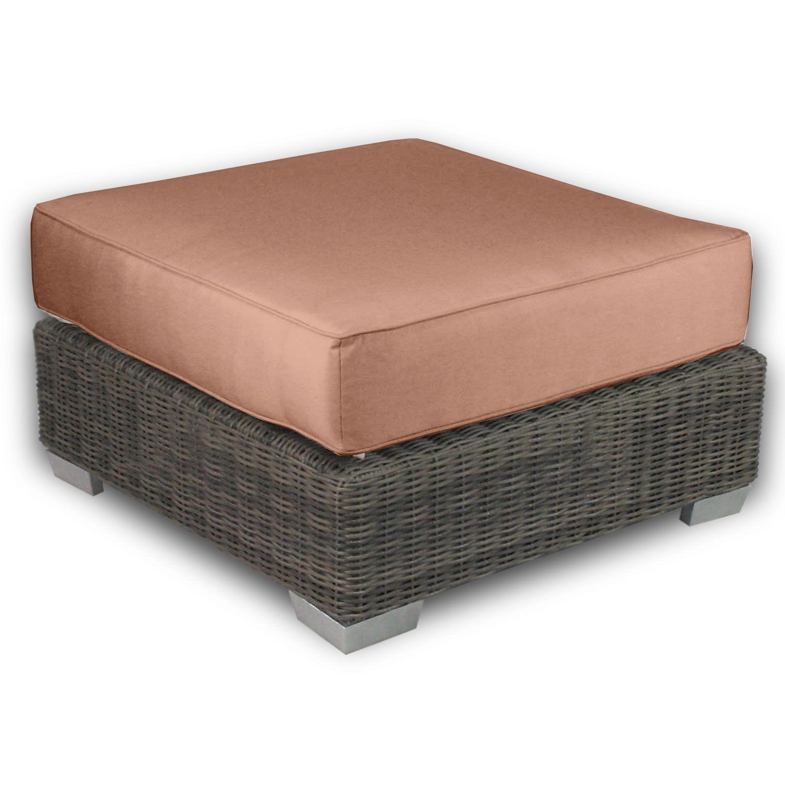 Palisades Ottoman with Cushion Fabric: Cayenne