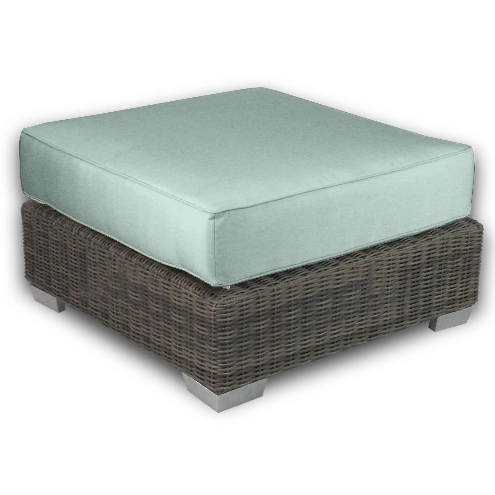 Palisades Ottoman with Cushion Fabric: Mist