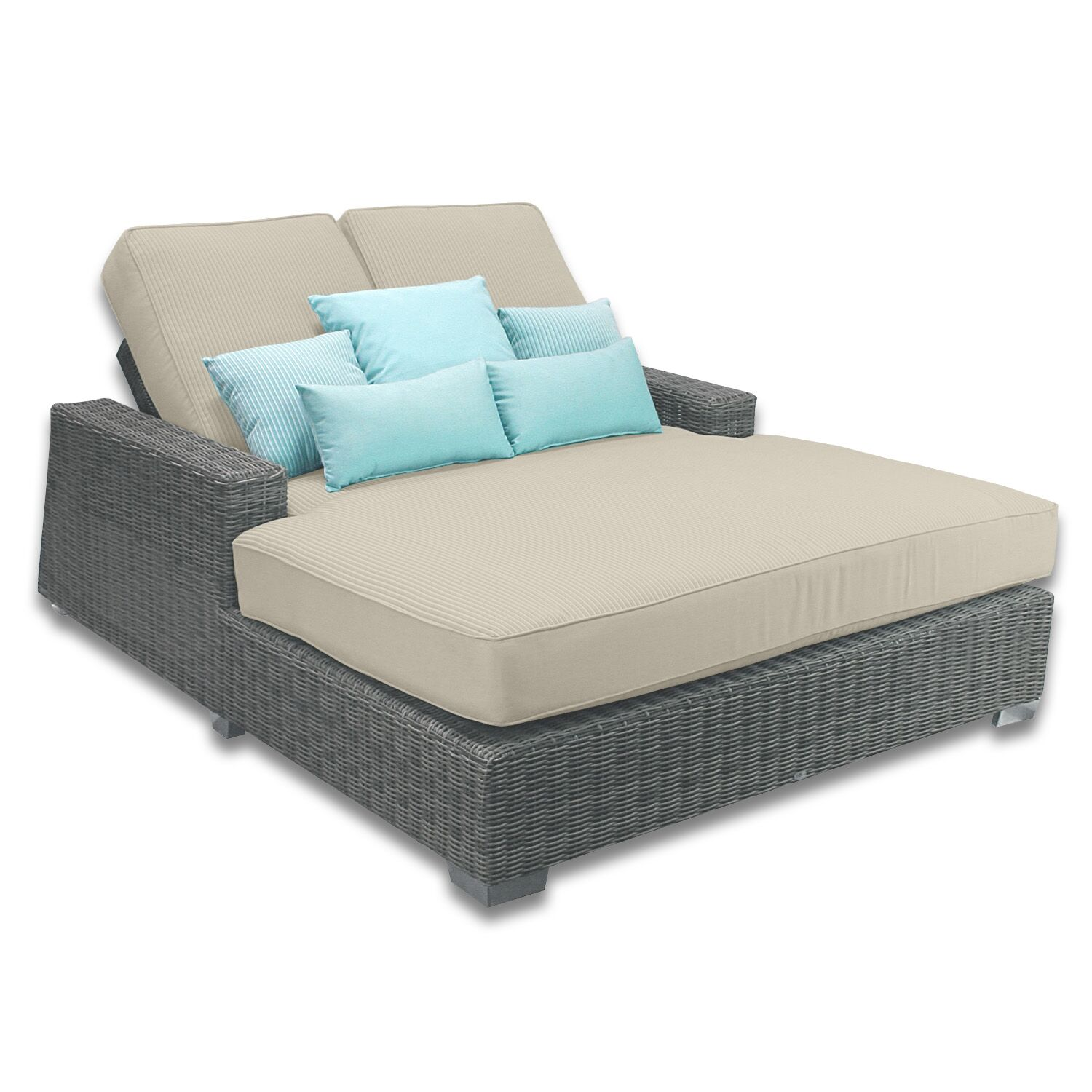 Palisades Double Chaise Cushions Color: Sand