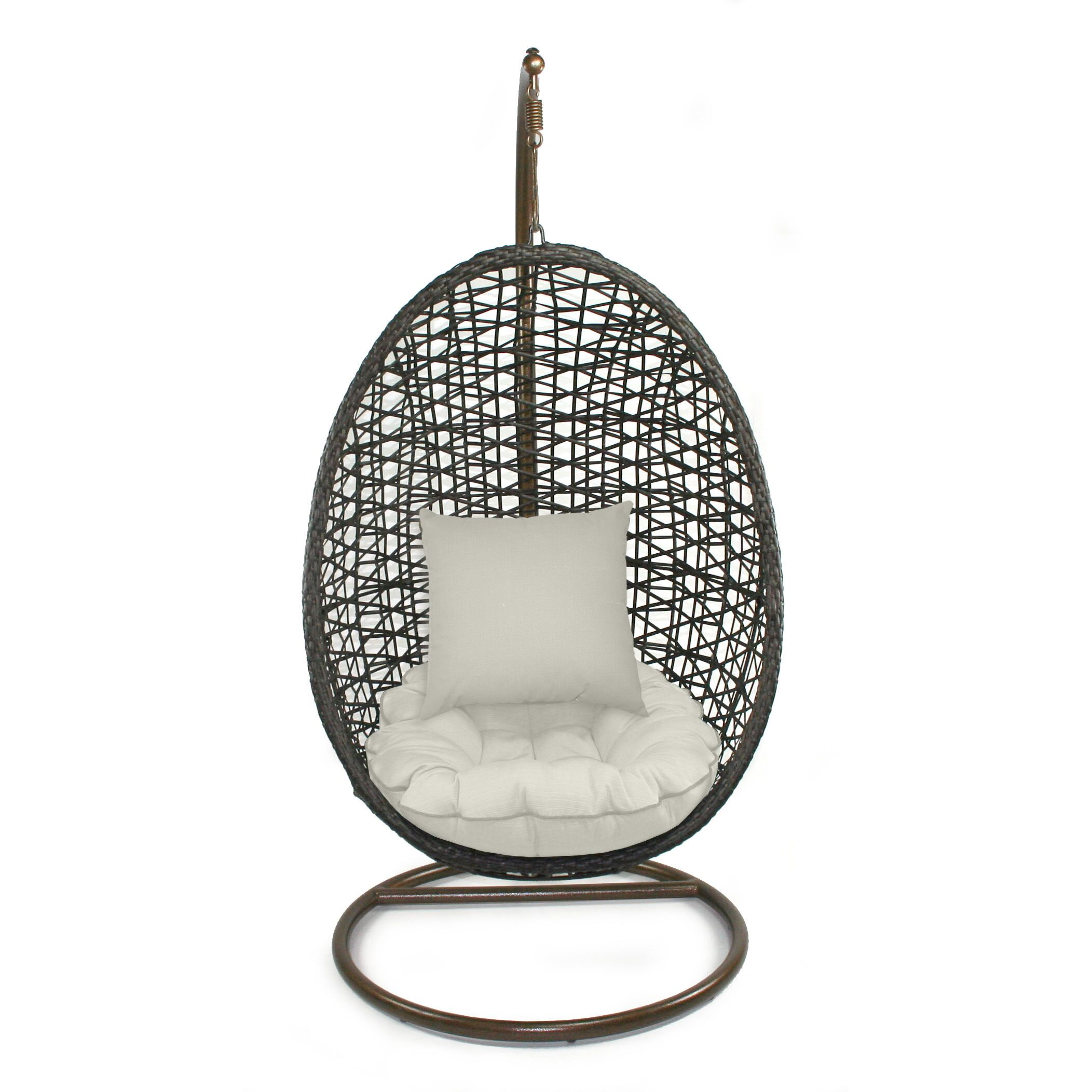 Skye Bird's Nest Swing Chair with Stand Fabric: Eggshell