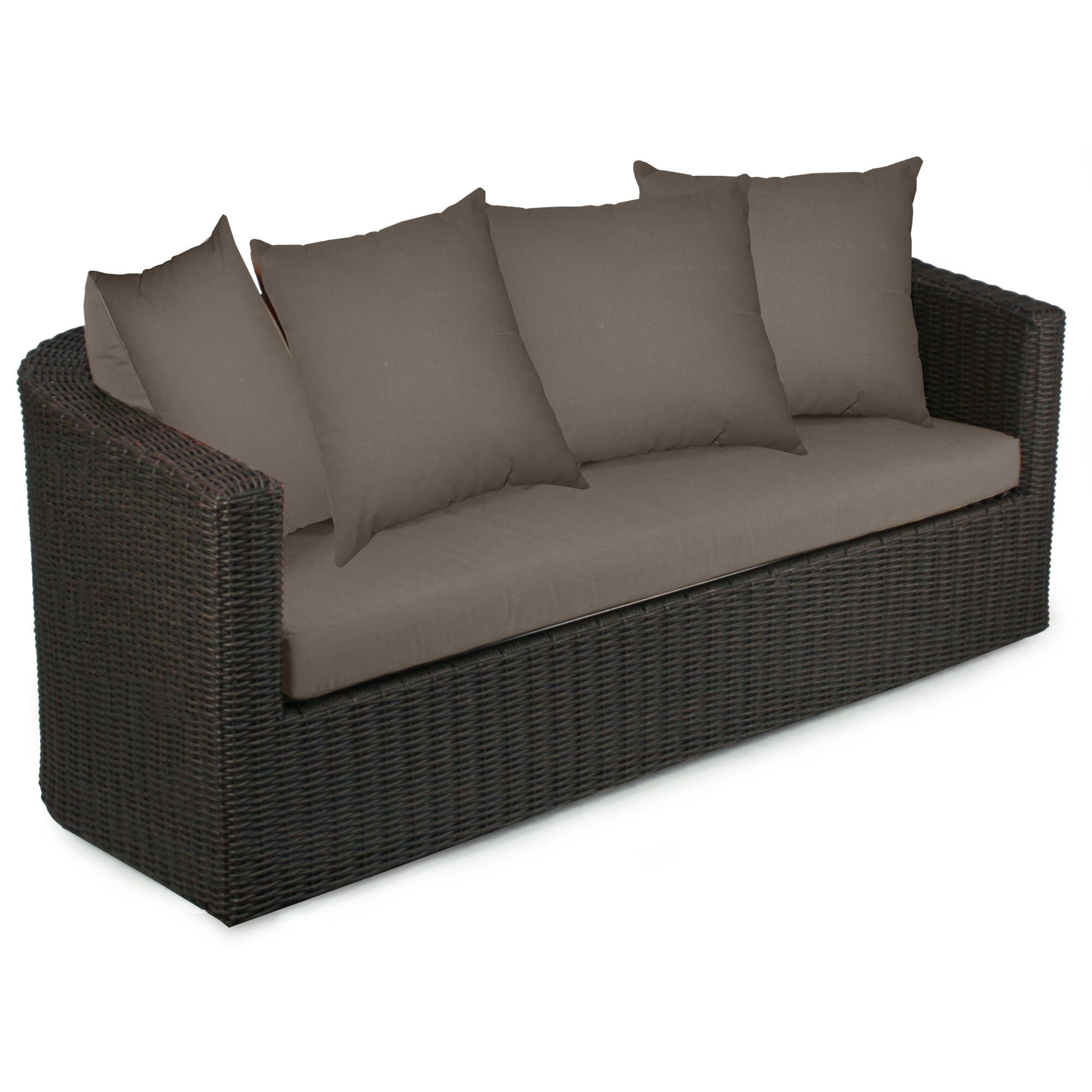 Palomar Sofa with Cushions Fabric: Coffee