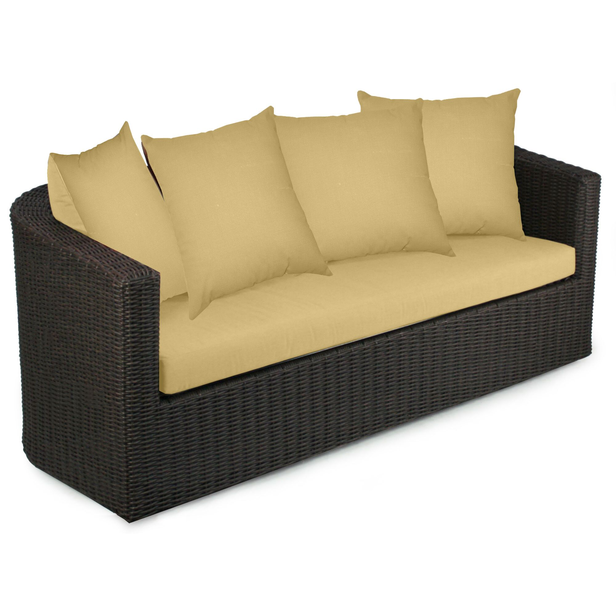 Palomar Sofa with Cushions Fabric: Daffodil