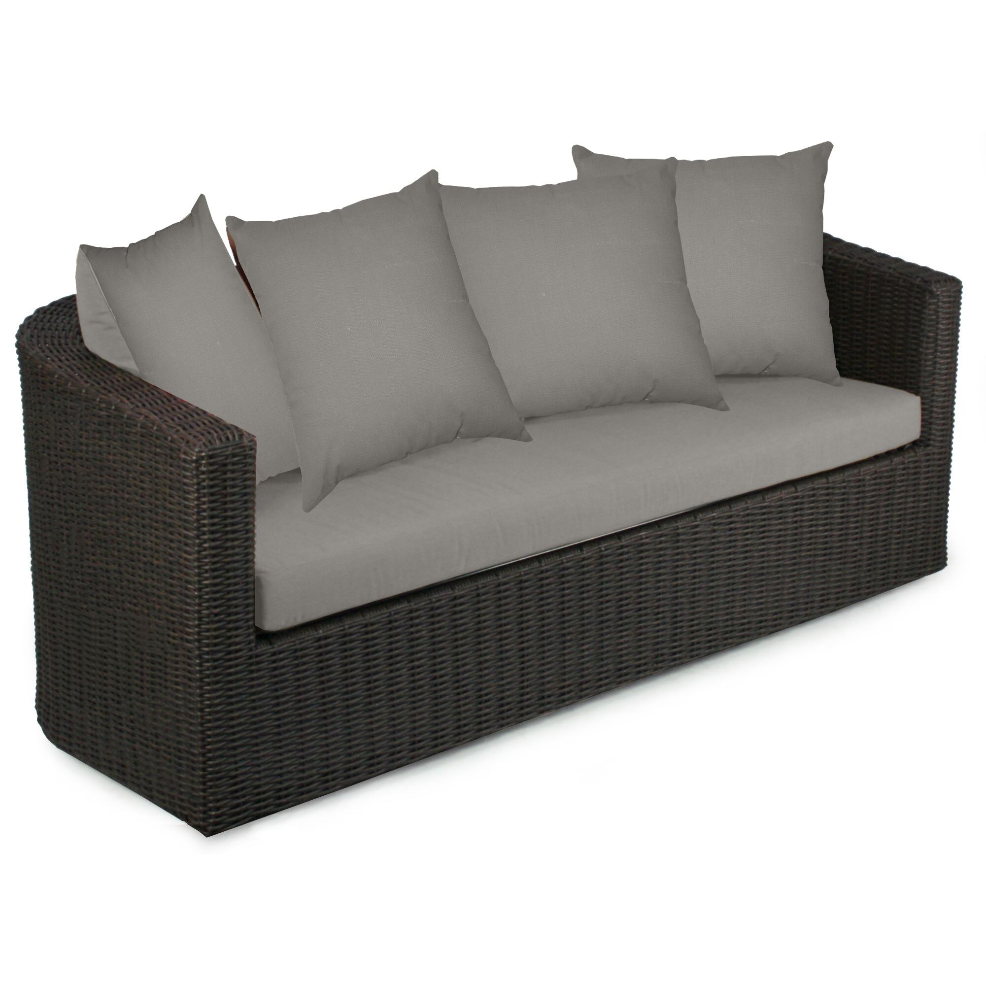 Palomar Sofa with Cushions Fabric: Graphite