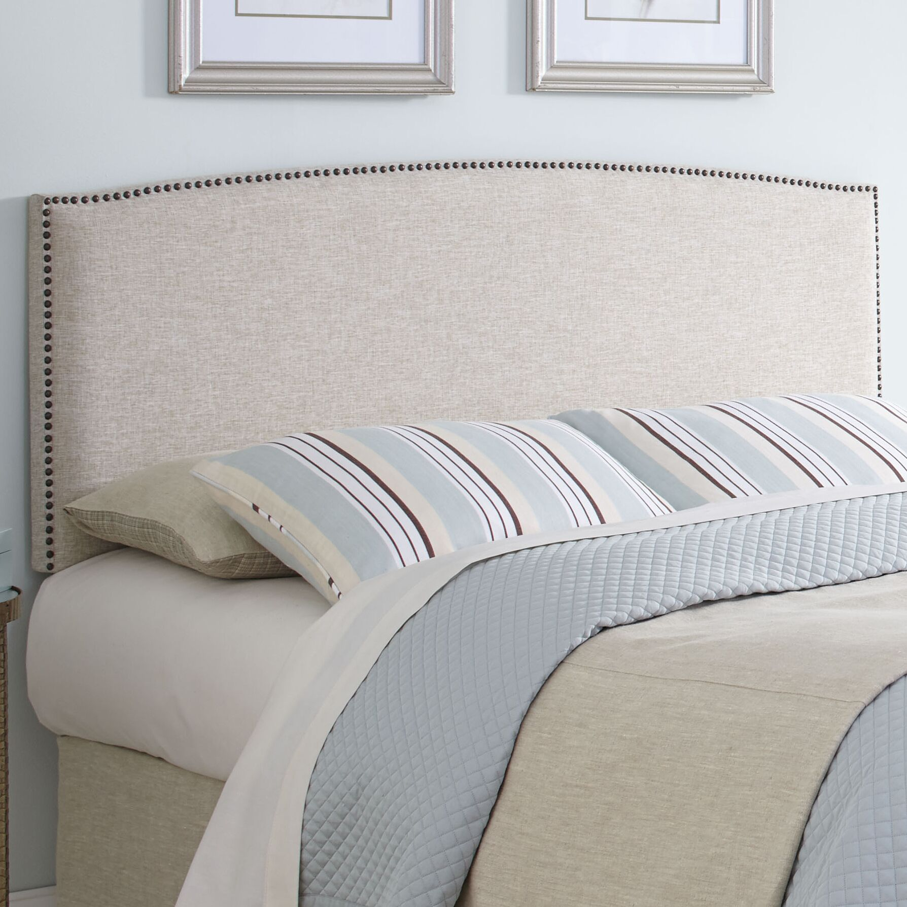 Newland Upholstered Panel Headboard Size: Full/Queen
