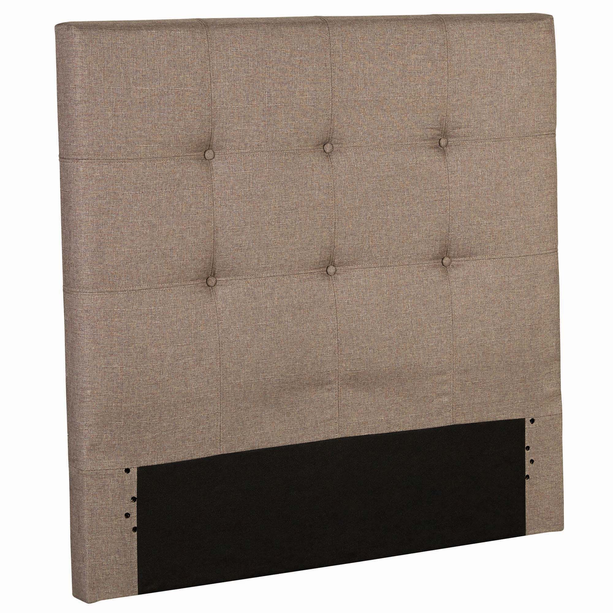 Betty Wood Upholstered Panel Headboard Size: Twin, Color: Sand Castle