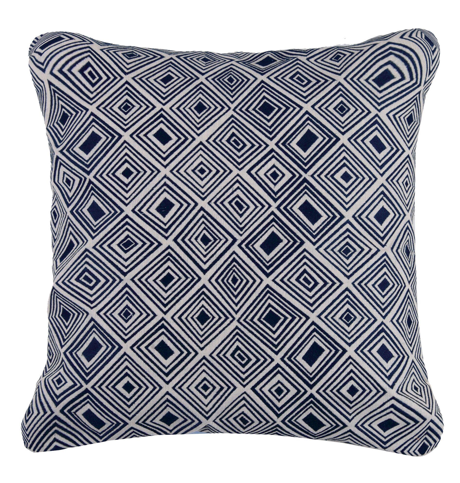 Nomad Linen Throw Pillow Color: Indigo