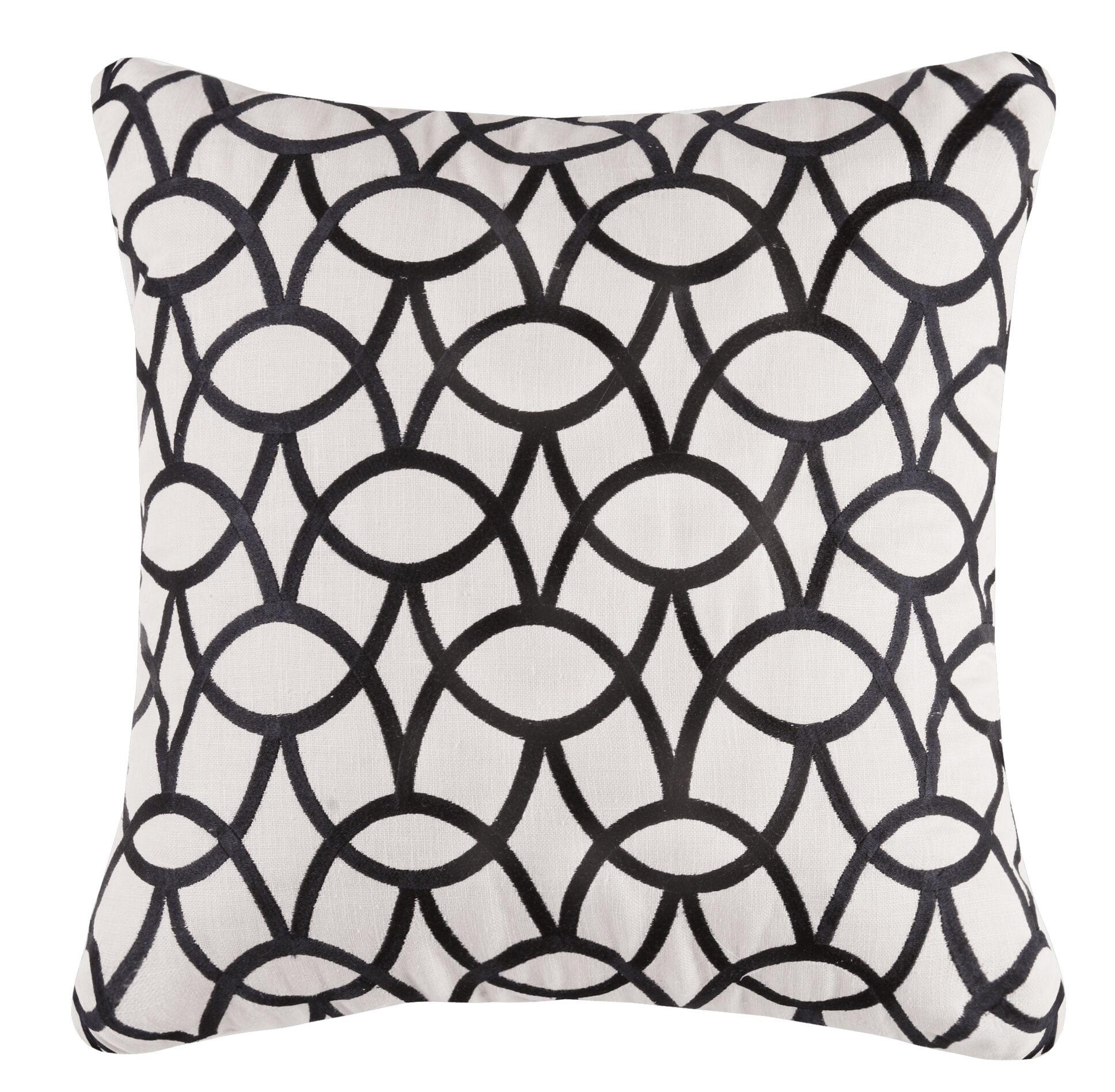 Abbey Linen Throw Pillow Color: Graphite