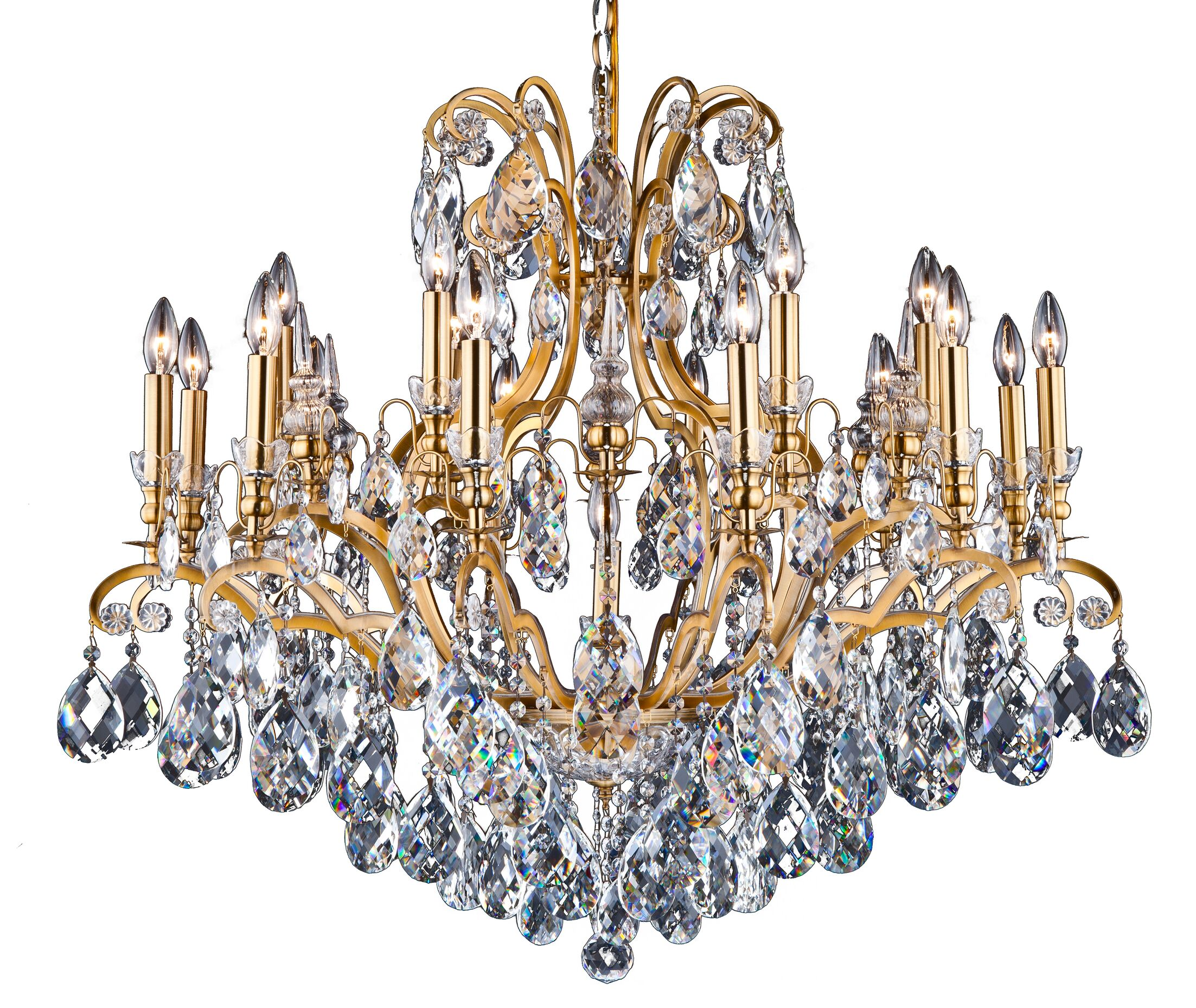 Livengood 19-Light Candle Style Chandelier Finish: Antique Brass