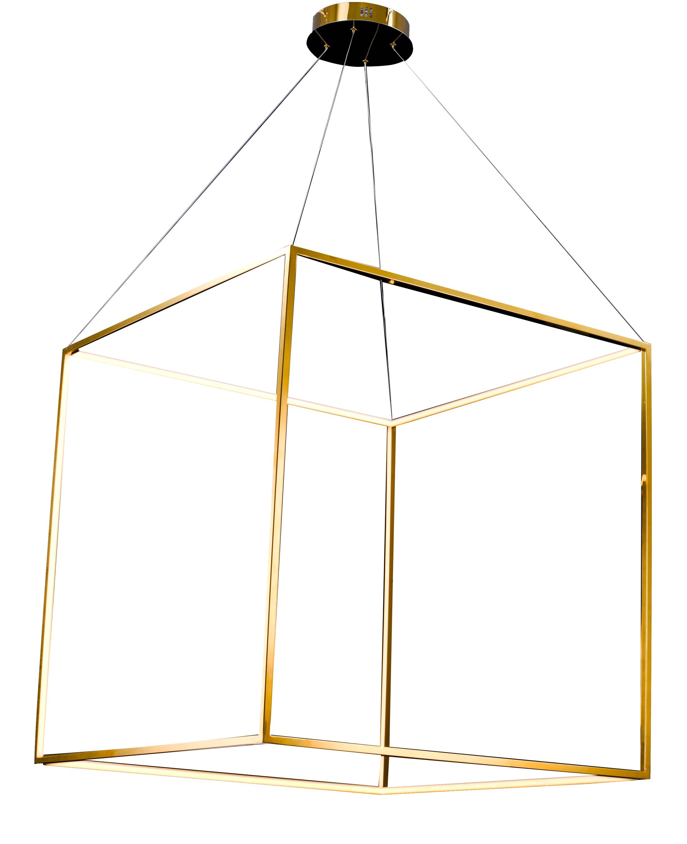 Galaviz LED Square/Rectangle Pendant Size: 35