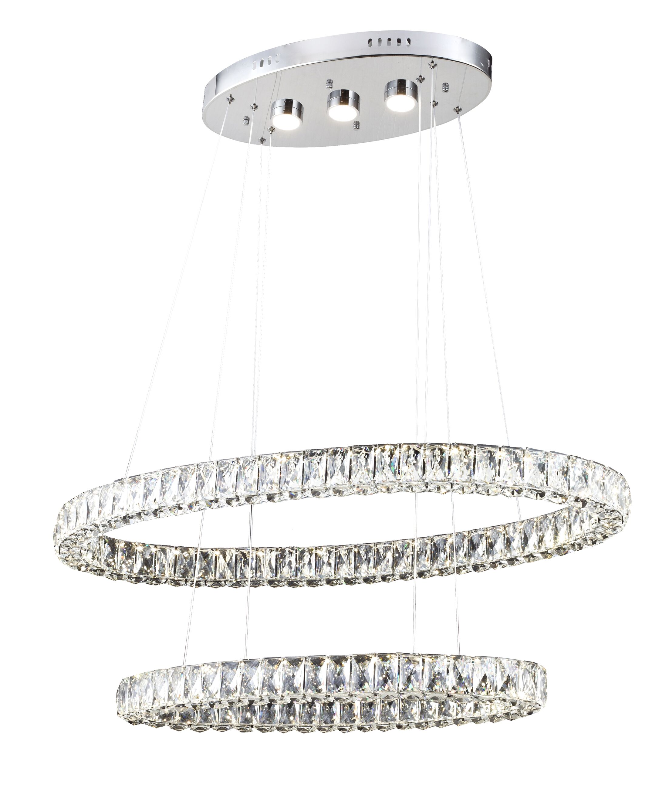 Blanche 3-Light  LED  Chandelier