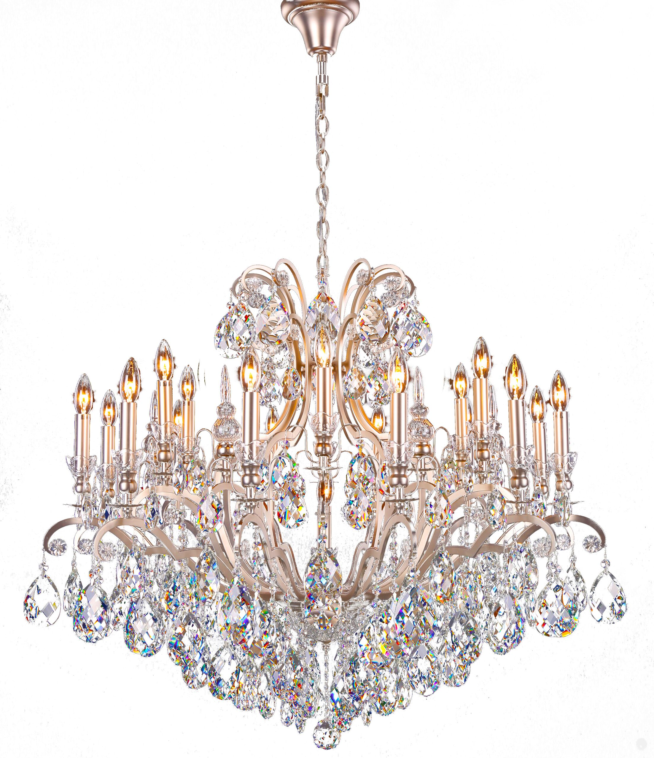 Livengood 19-Light Candle Style Chandelier Finish: Pewter