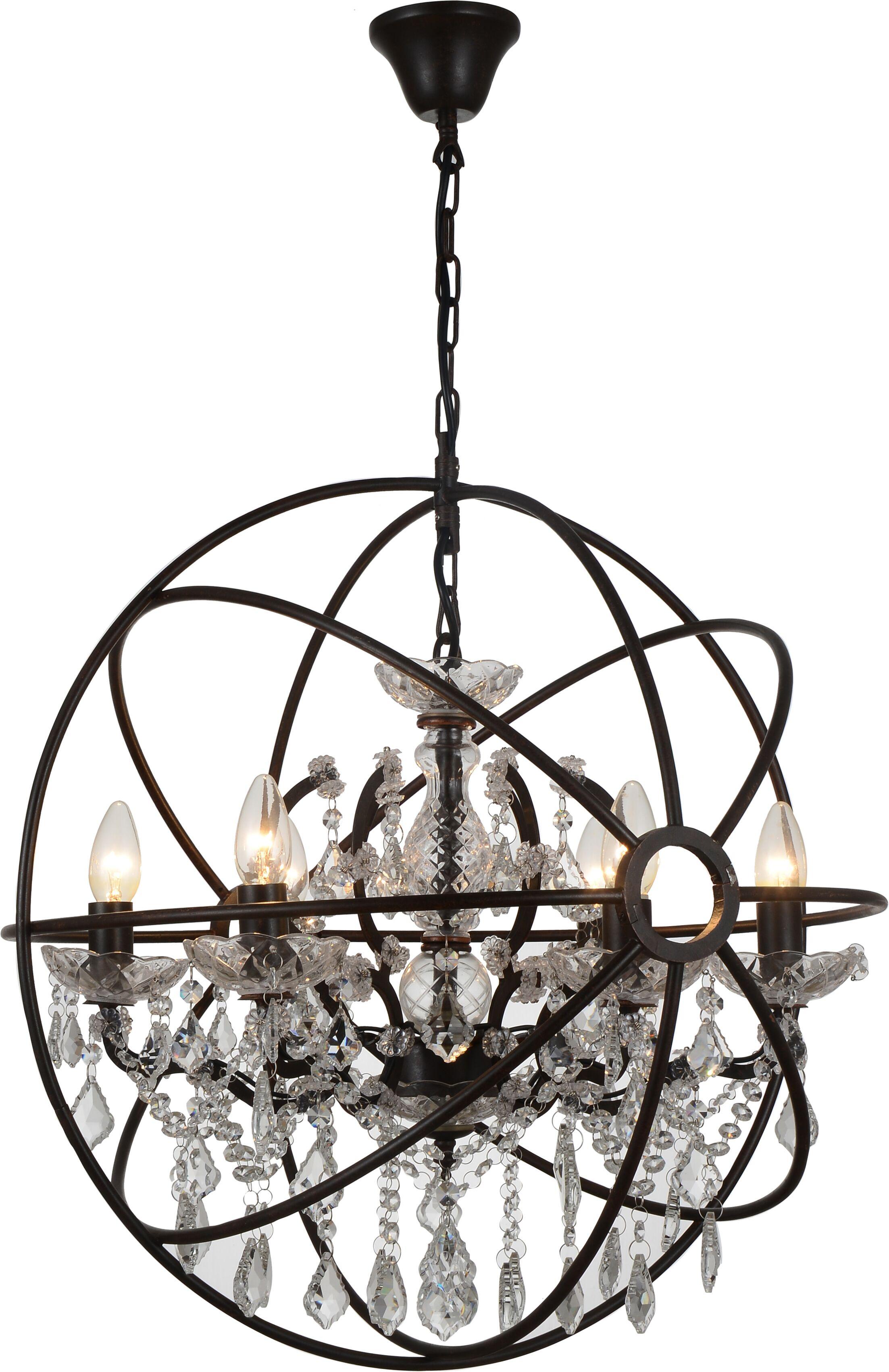 Beldin 6-Light Globe Chandelier Finish: Bronze