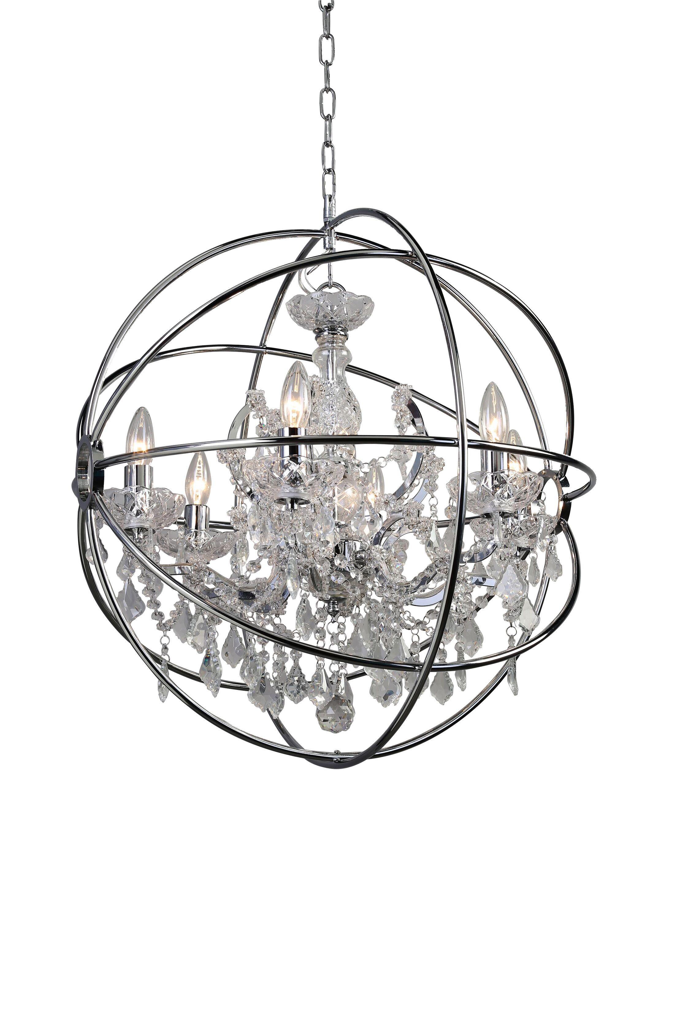 Beldin 6-Light Globe Chandelier Finish: Chrome