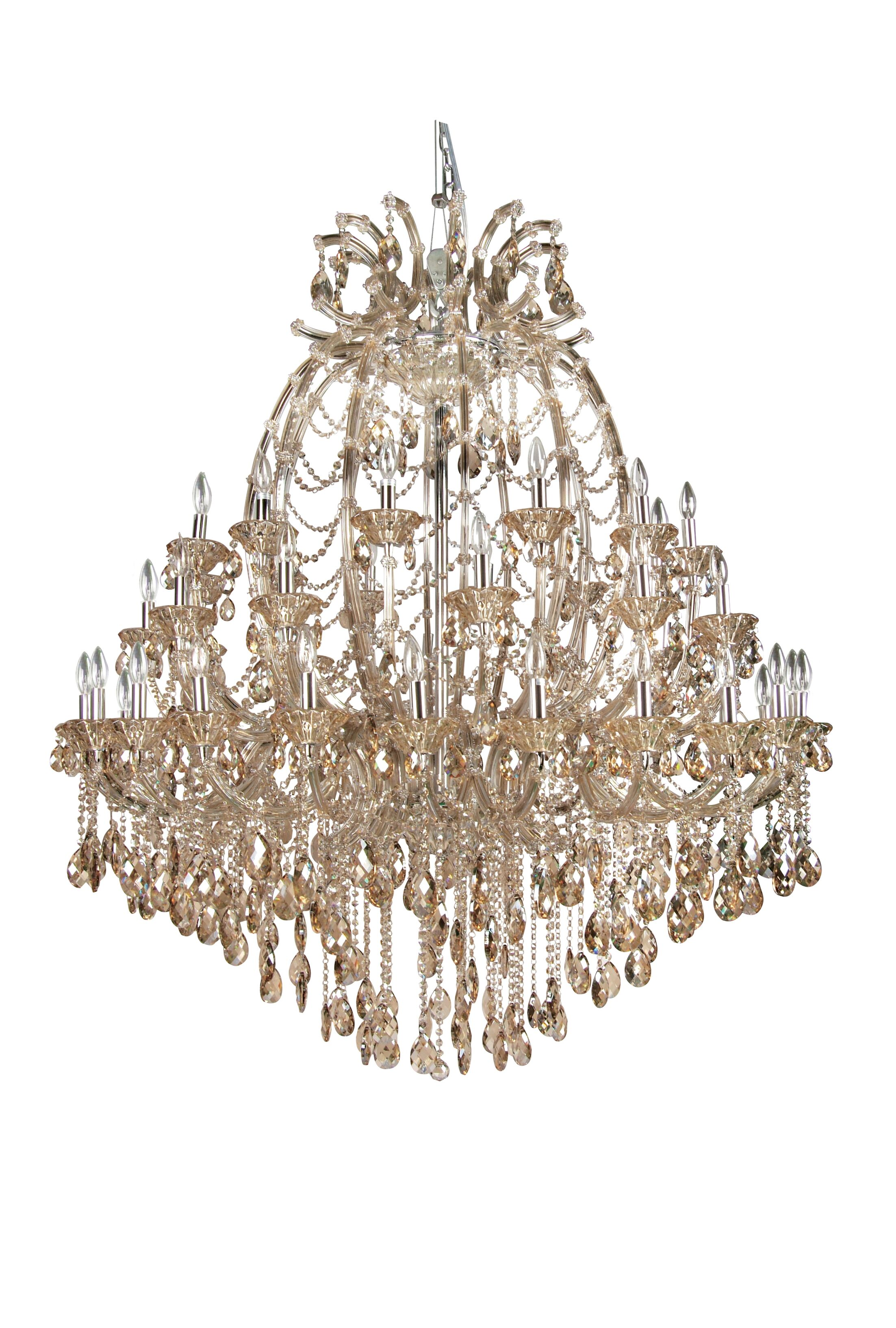 Horsham 48-Light Candle Style Chandelier Crystal Color: Champagne