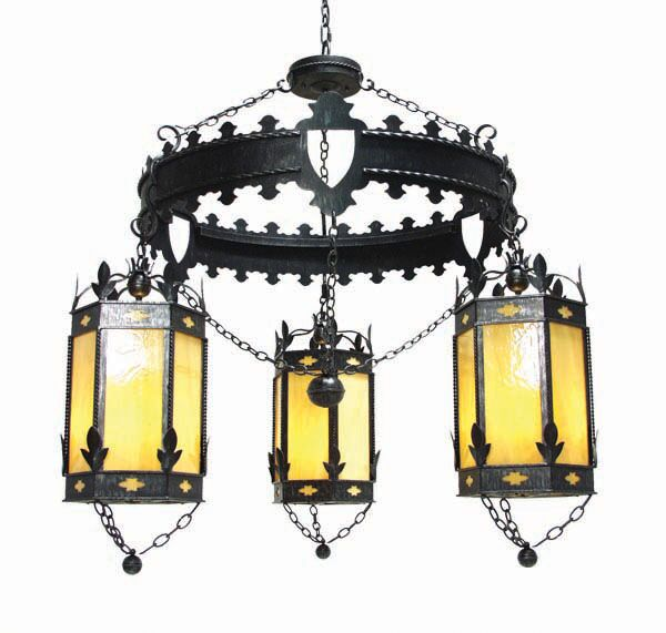 Valhalla 3-Light Shaded Chandelier Finish: Rustic Iron