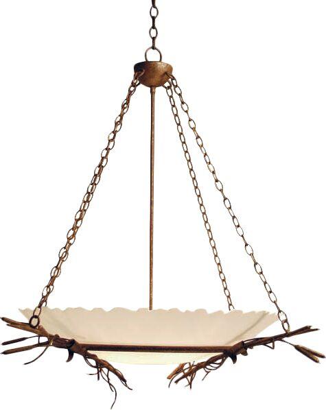 Cattail 6-Light Bowl Pendant Finish: Rusty Nail