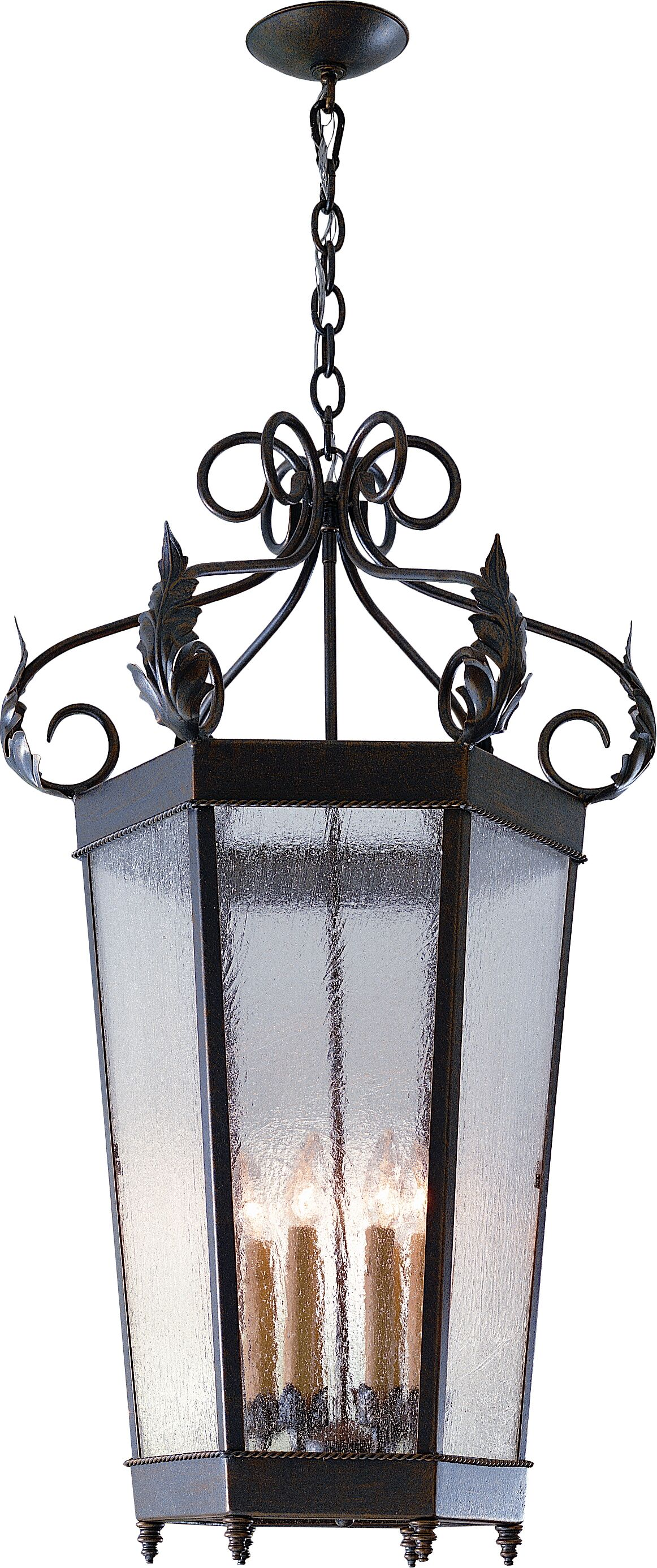 Regency 6-Light Pendant Finish: Golden Verde, Shade Type: Silver Mica