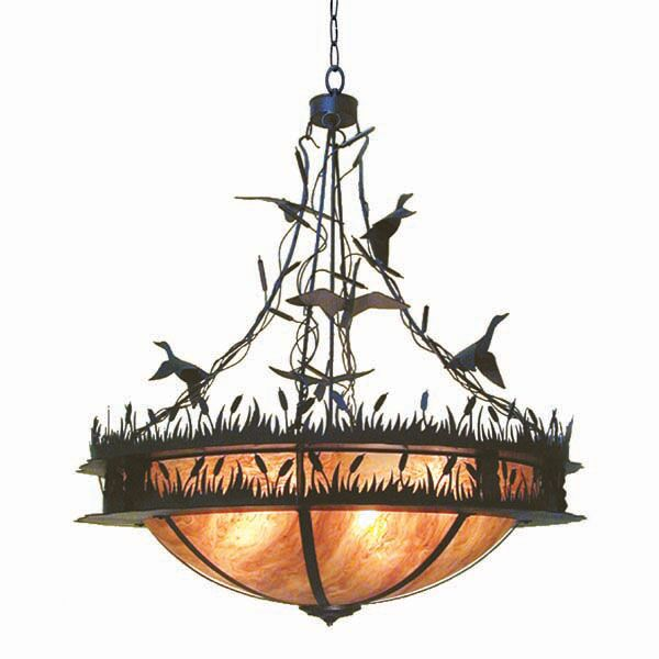 Ducks In F Light Bowl Pendant Finish: Rustic Iron