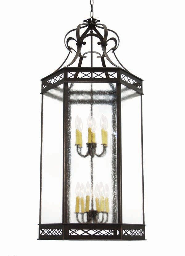 Estancia 12-Light Foyer Pendant Finish: Golden Verde Premium, Acrylic: Clear Acrylic