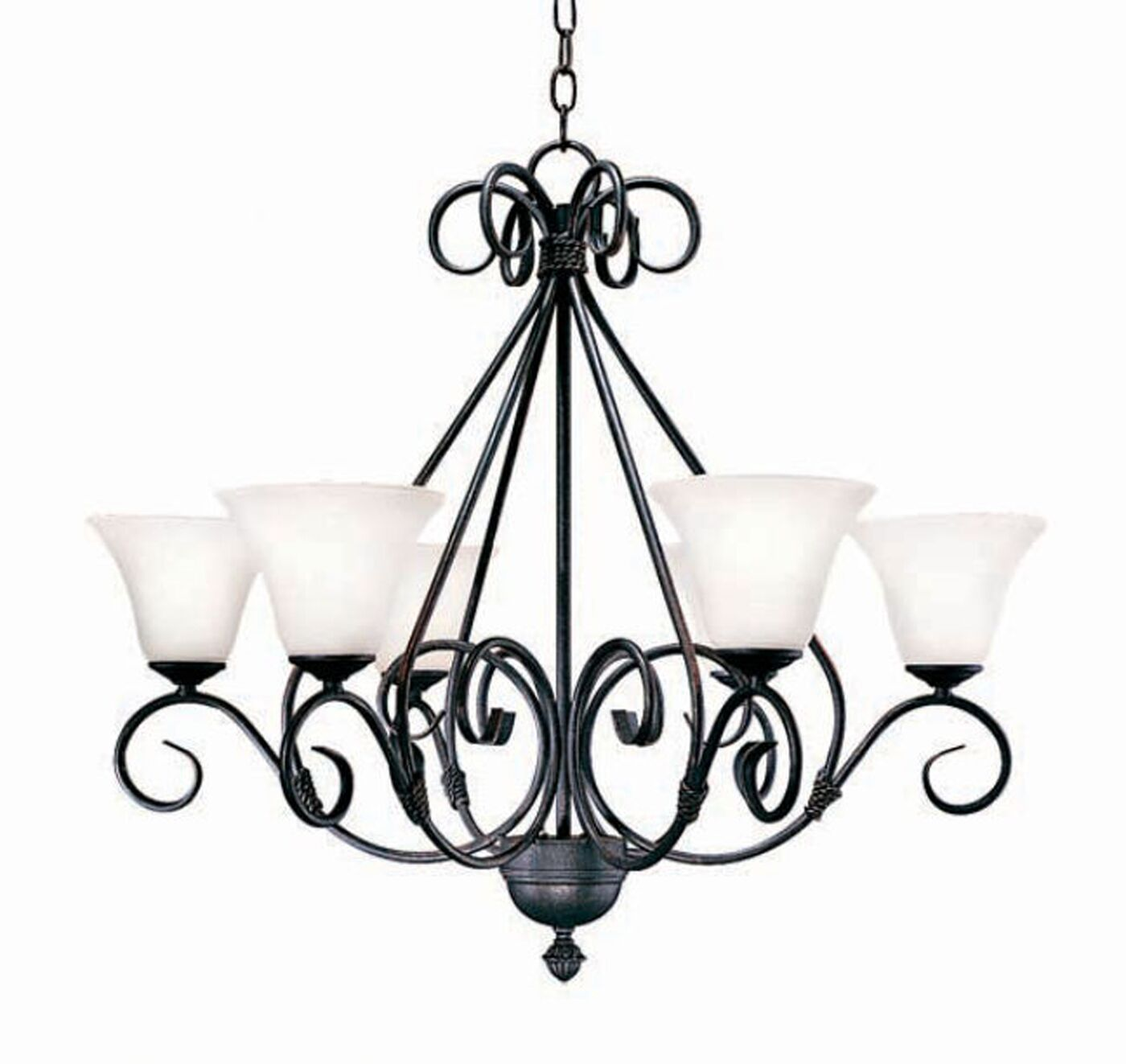 Olivia 6-Light Shaded Chandelier Finish: Rusty Nail
