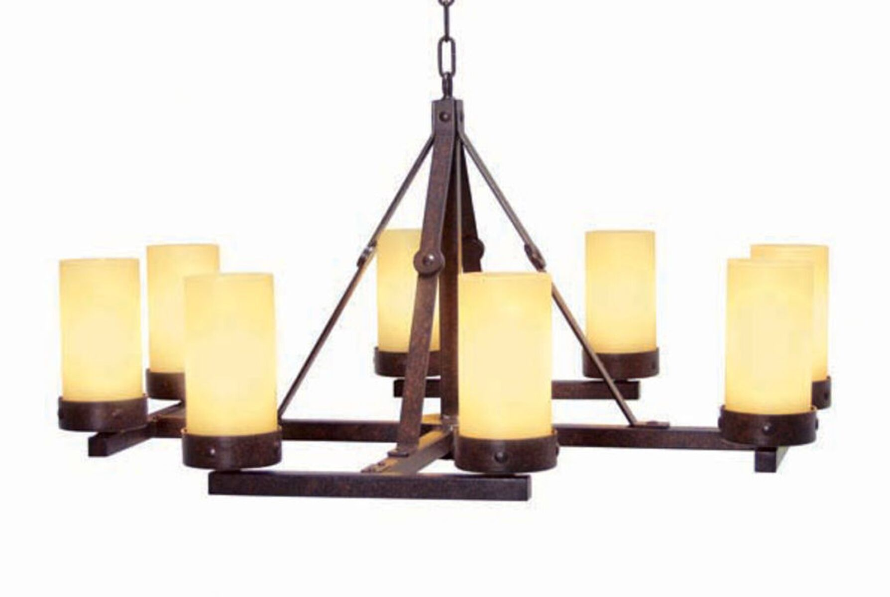 Parker 8-Light Shaded Chandelier Finish: Copper Rust Premium