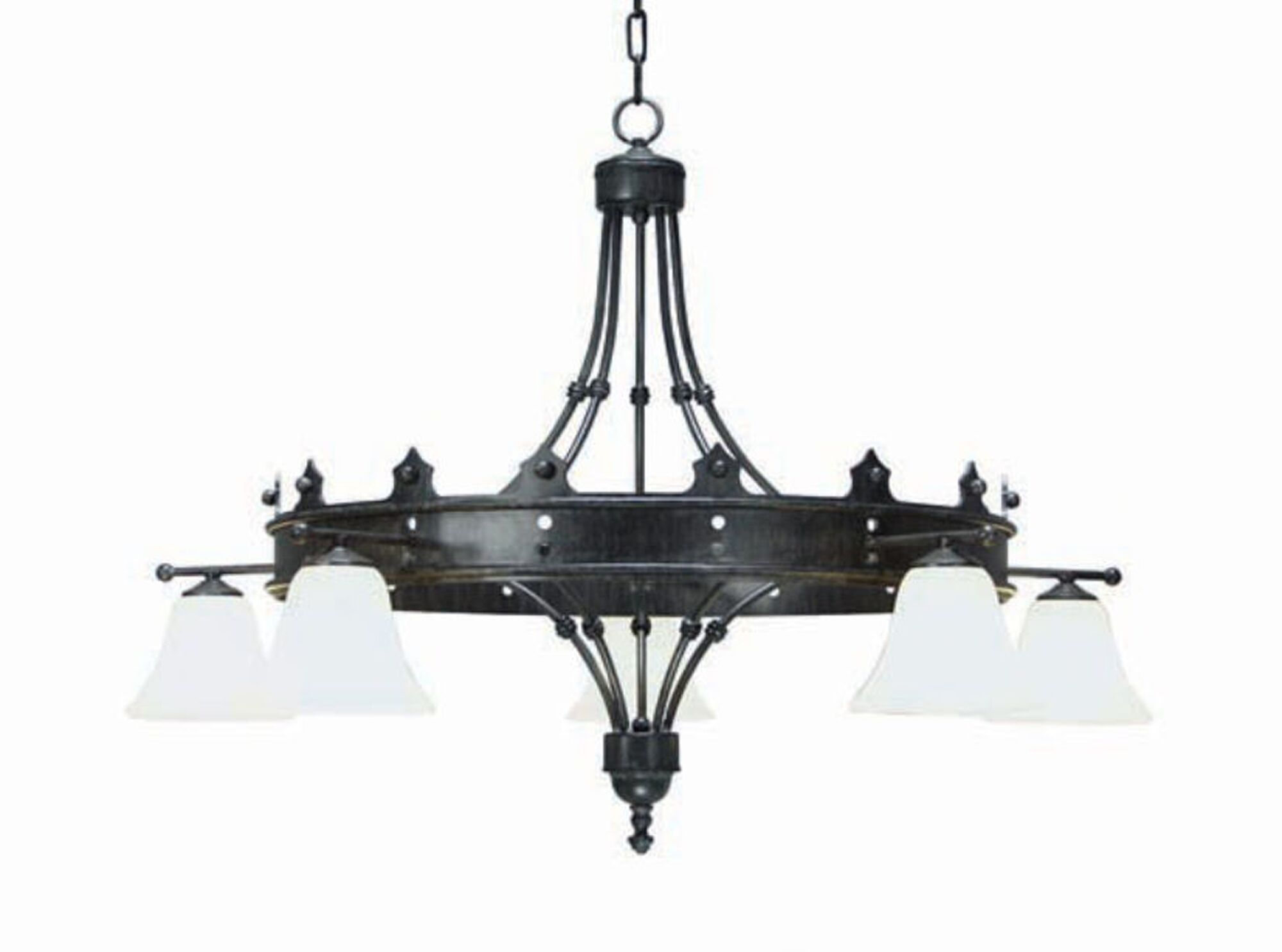 Strada 5-Light Shaded Chandelier Finish: Pewter