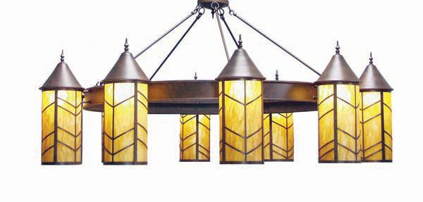 Chevron 10-Light Shaded Chandelier Finish: Smoke