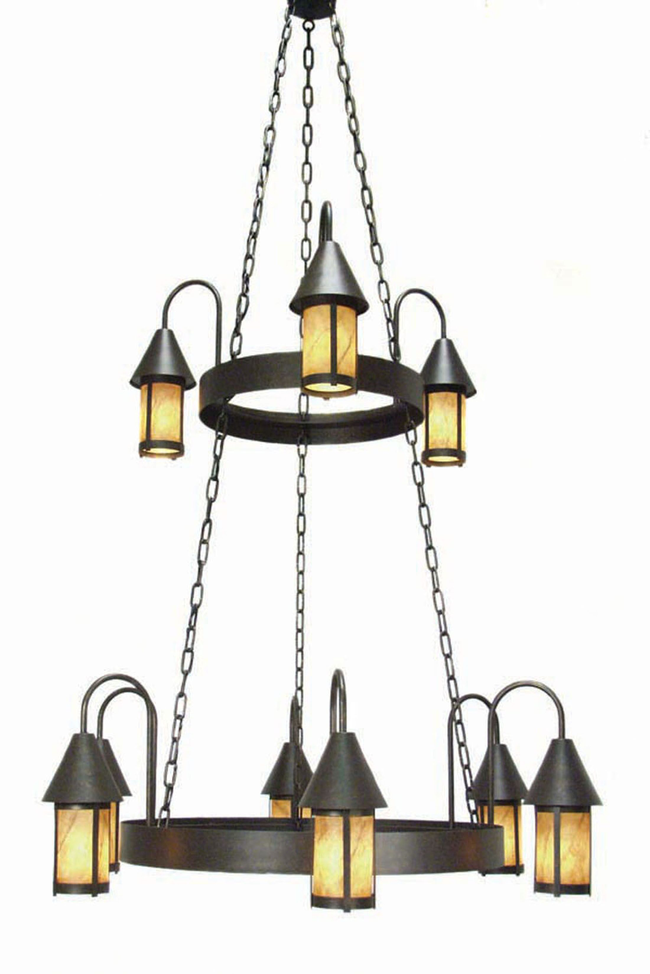 Algonquin 9-Light Shaded Chandelier Finish: Copper Rust Premium