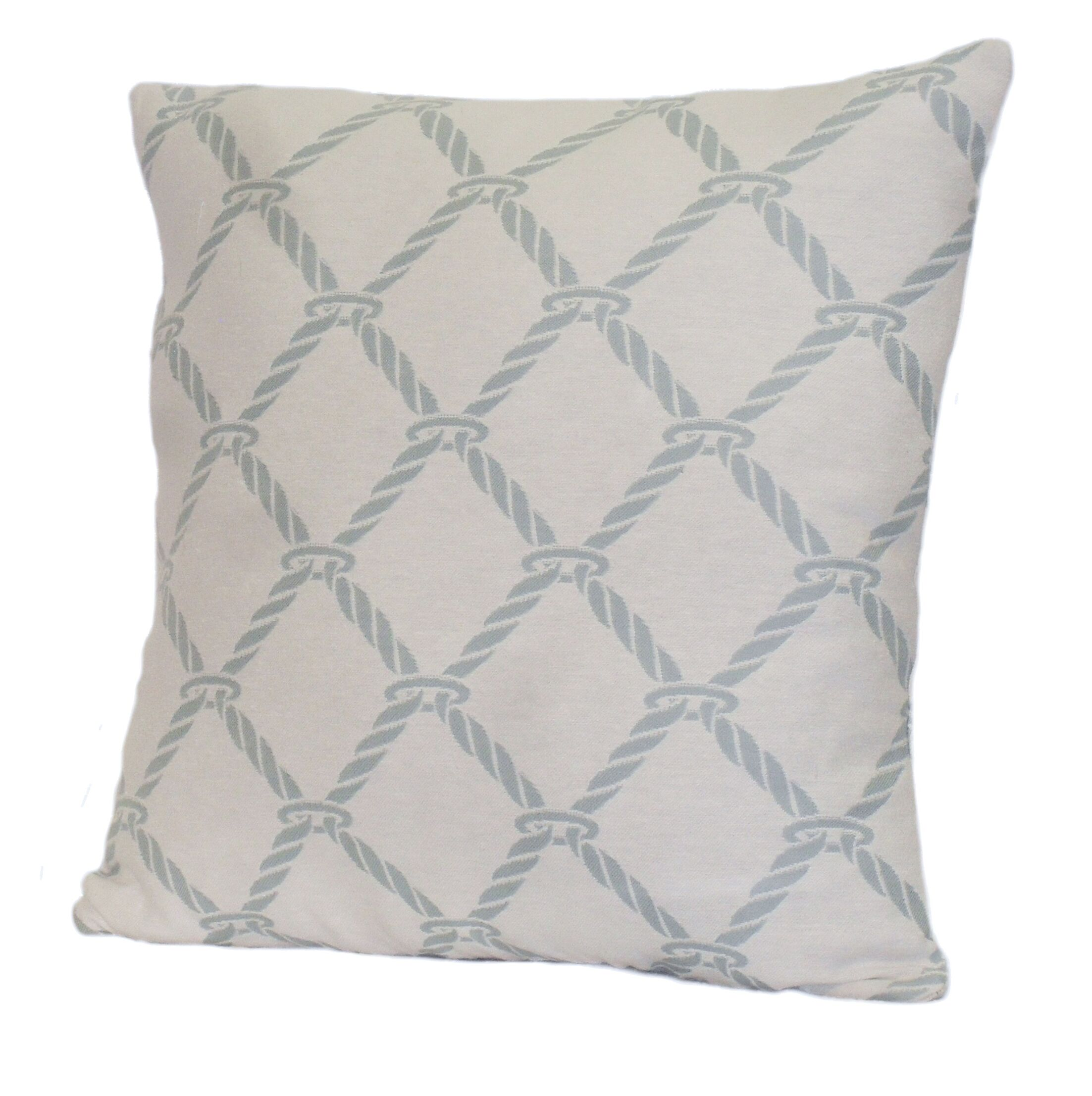 Nautical Rope Stuffed Throw Pillow Color: Surf Blue, Size: 24