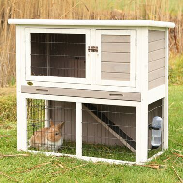 Marta Small Animal Hutch with Sloped Roof