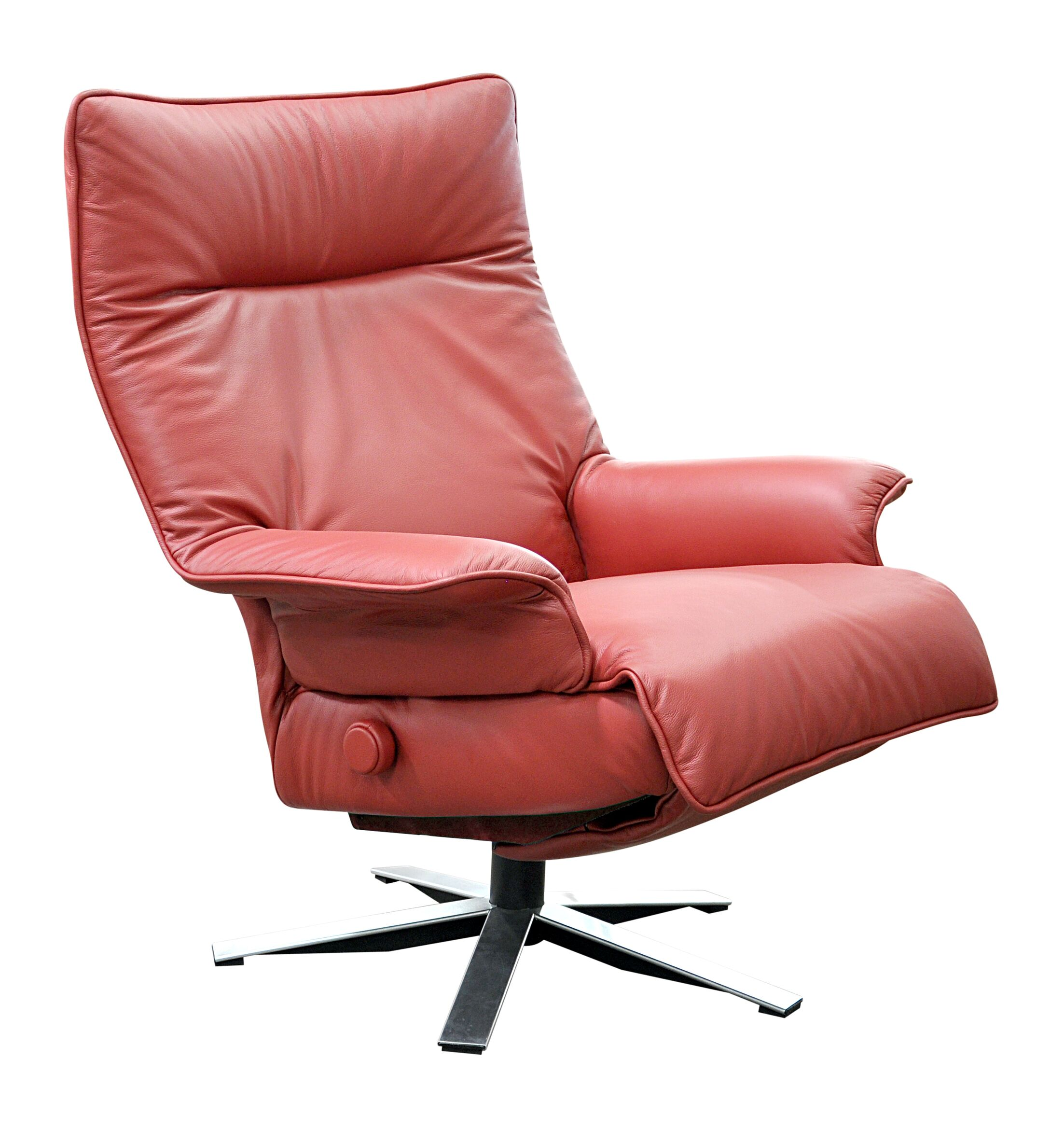 Valentina Leather Manual Swivel Recliner Upholstery: Gray