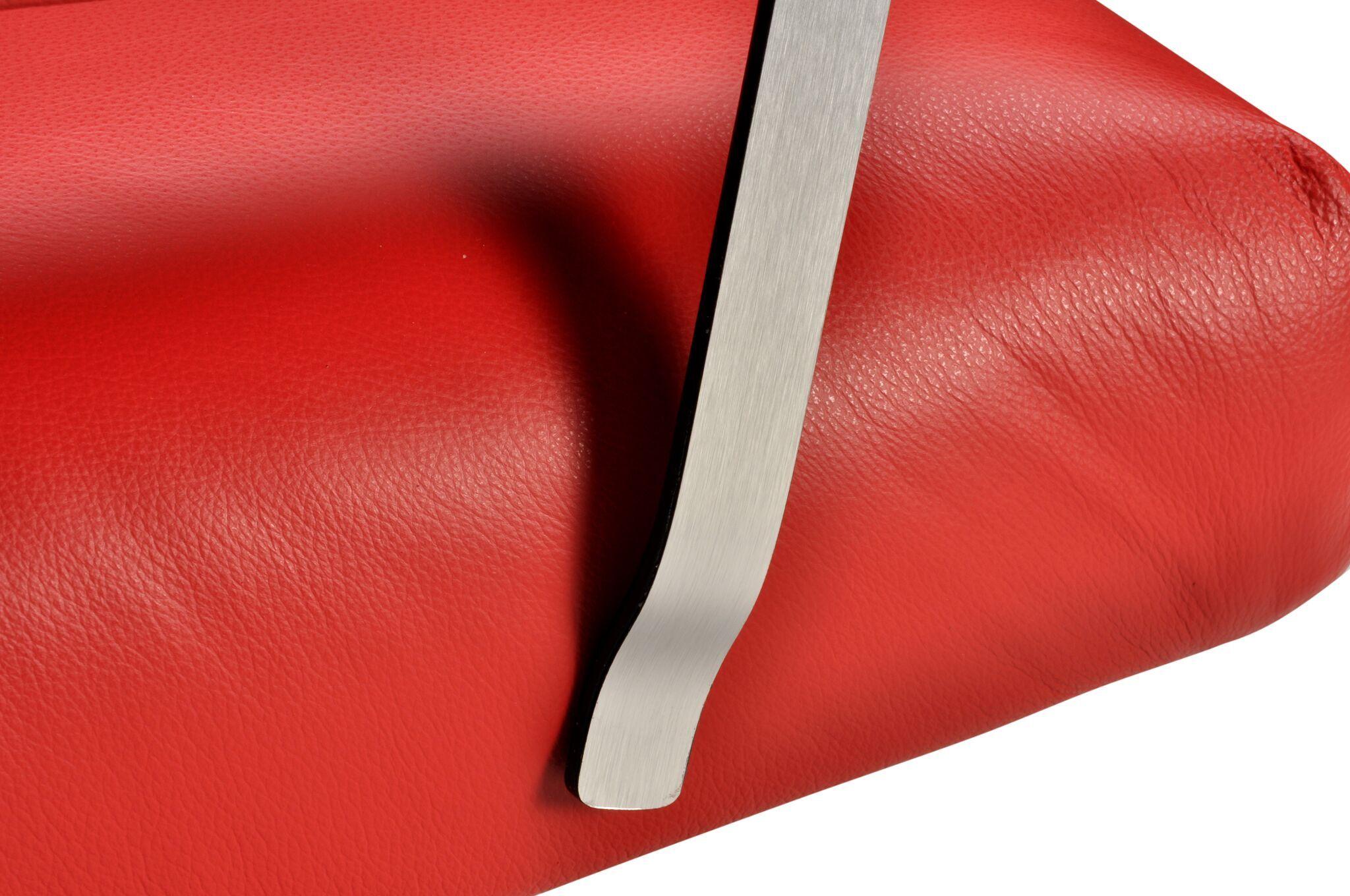 Elis Swivel Armchair Upholstery: Red