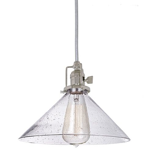 Edgar 1-Light Mini Pendant Finish: Polished Nickel, Shade Color: Clear