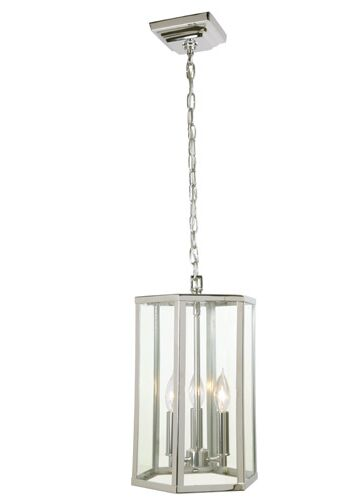 George 3-Light Geometric Chandelier Finish: Polished Nickel