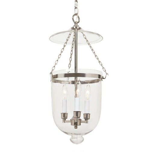 3-Light Urn Pendant Finish: Polished Nickel