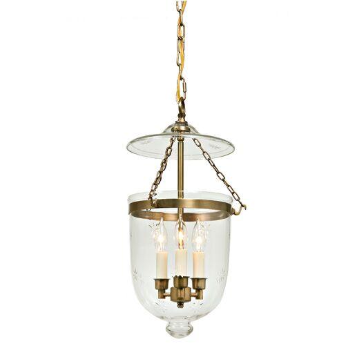 3-Light Urn Pendant Finish: Rubbed brass