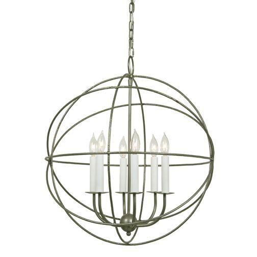 Globe 6-Light Pendant Finish: Aged Silver