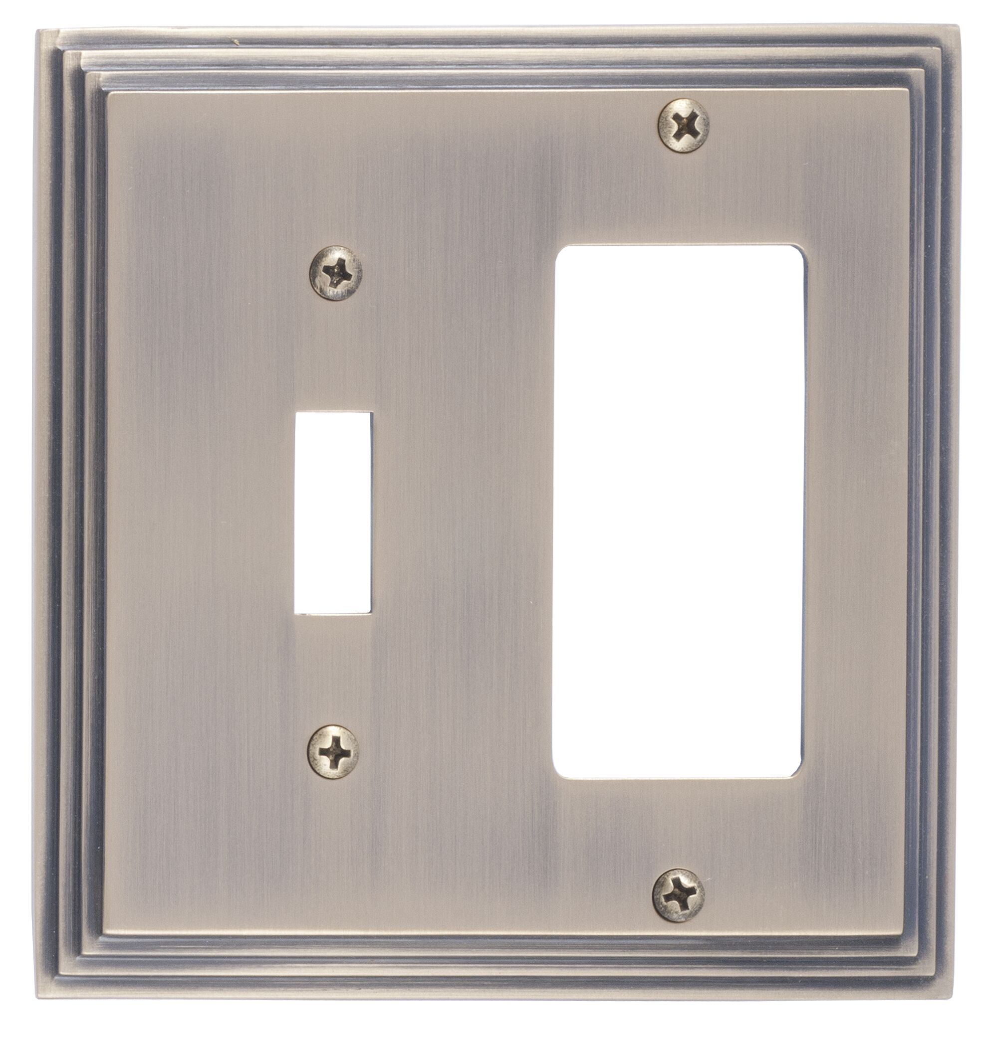 Classic Steps GFCI Plate Finish: Antique Brass