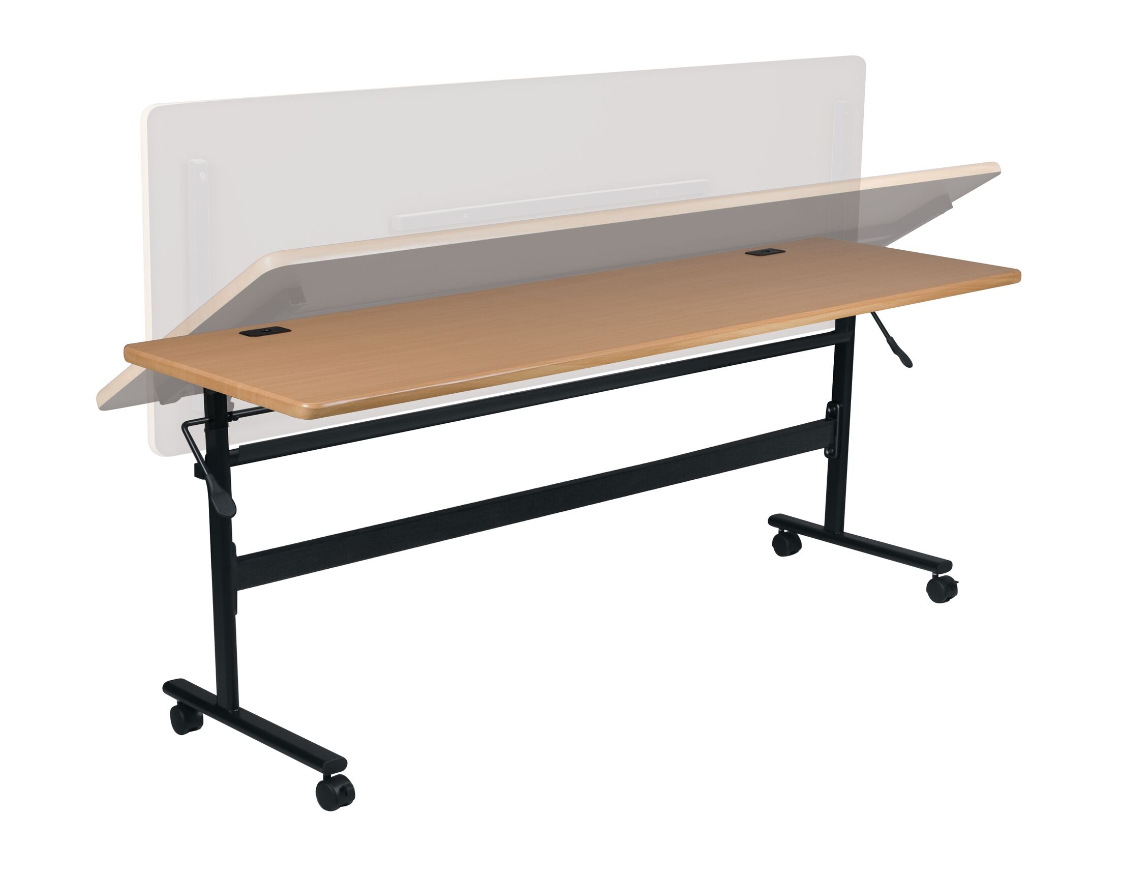 Economy Flipper Training Table with Wheels Size: 60