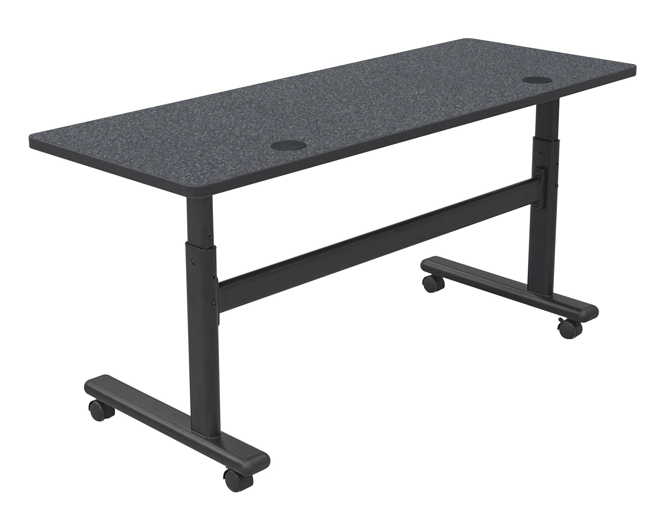 Height Adjustable Training Table with Wheels Size: 60