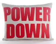 Modern Lexicon Power Down Throw Pillow Color: Cream Canvas/Turquoise