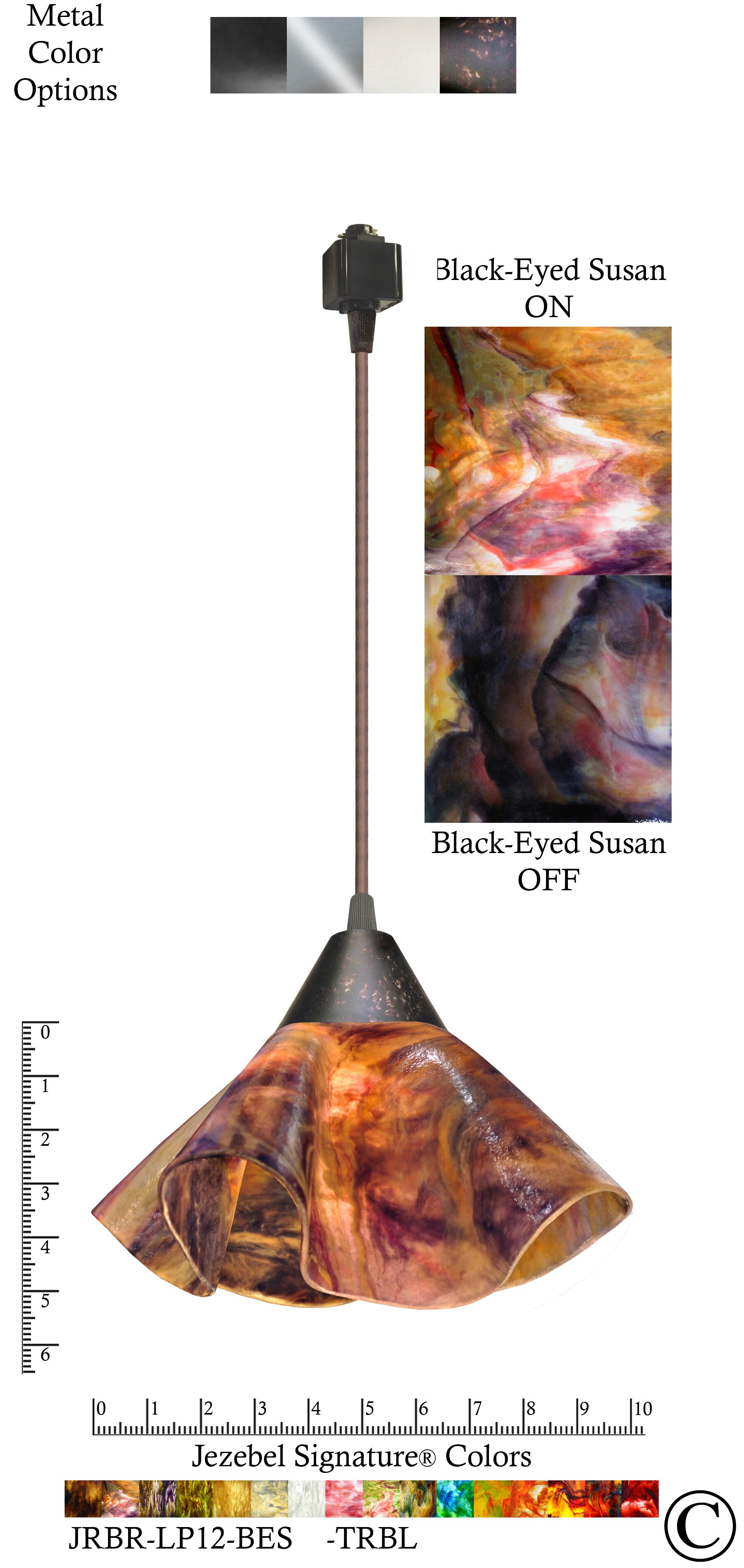 Signature� Lily 1-Light Novelty Pendant Finish: Brown, Shade Color: Black-Eyed, Size: Large
