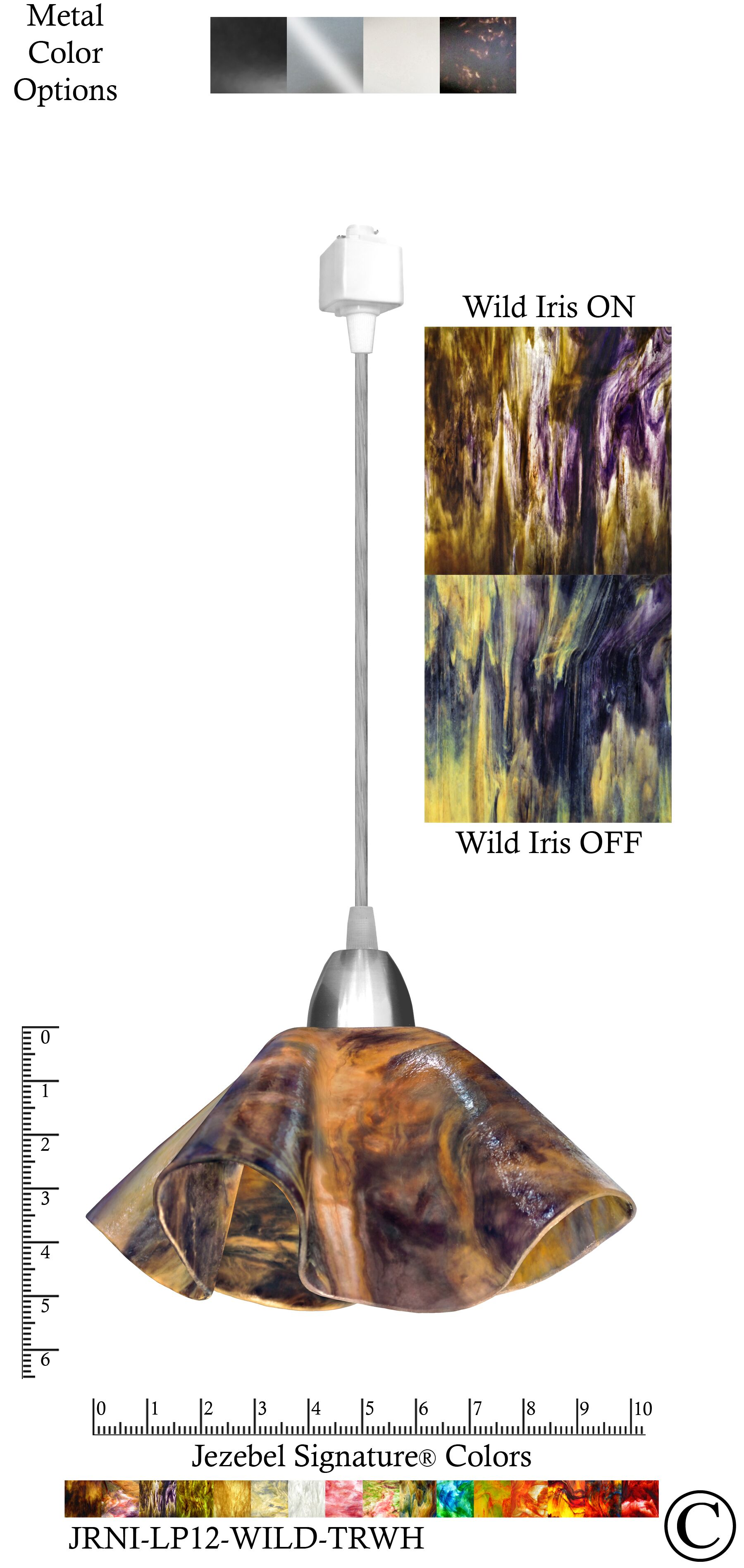 Signature� Lily 1-Light Novelty Pendant Shade Color: Wild Iris, Size: Small, Finish: Nickel