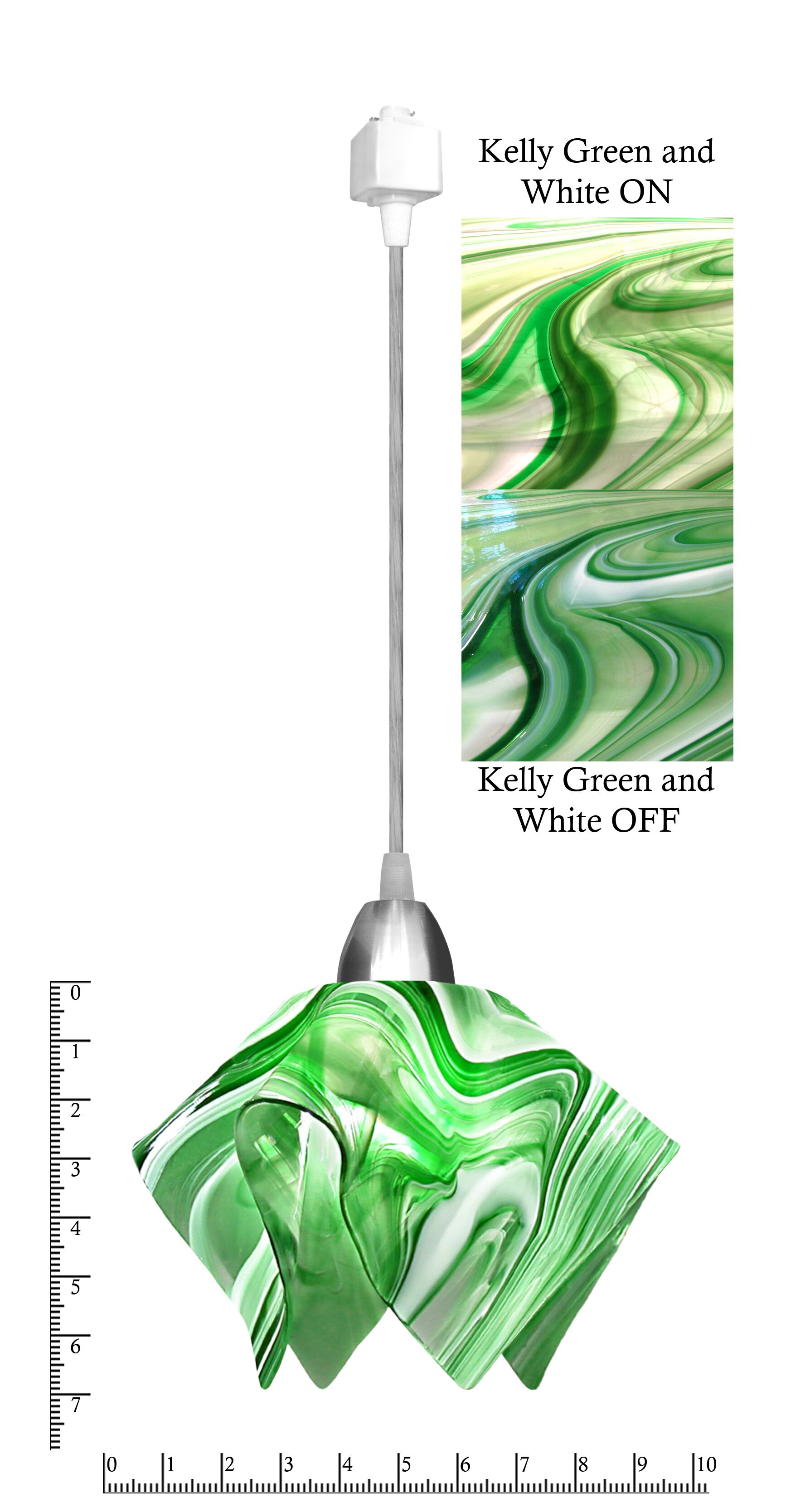 Radiance® Flame 1-Light Novelty Pendant Size: Small, Shade Color: Kelly