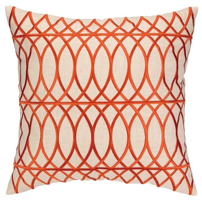 Regina Throw Pillow Color: Orange