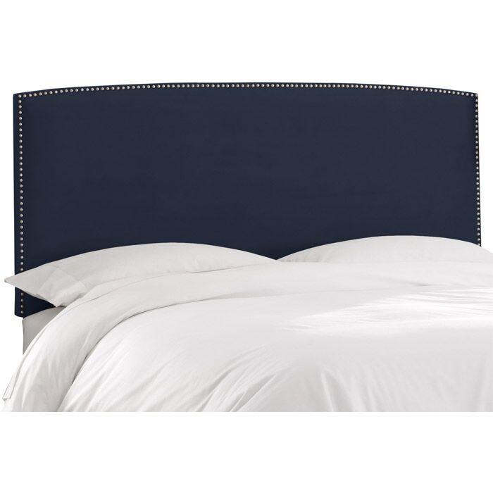 Mara Upholstered Panel Headboard Size: Twin, Upholstery: Regal Navy